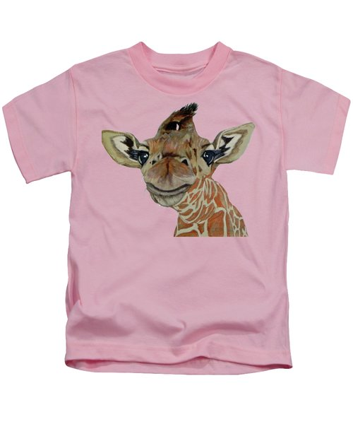 Cute Giraffe Baby Kids T-Shirt by M Gilroy