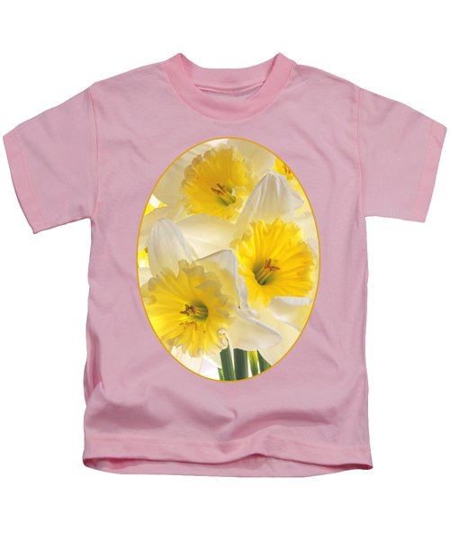 Daffodil Delight Vertical Kids T-Shirt