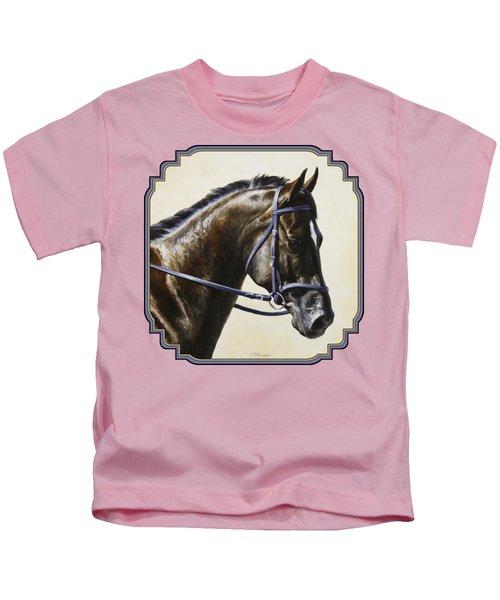 Dark Bay Dressage Horse Phone Case Kids T-Shirt