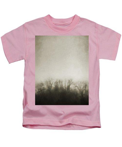 Dark Foggy Wood Kids T-Shirt