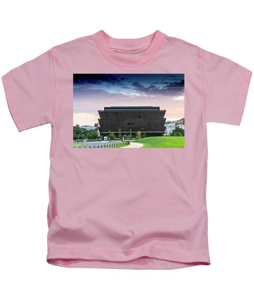 Dawn At The National Museum Of African American History And Culture.  No 1 Kids T-Shirt
