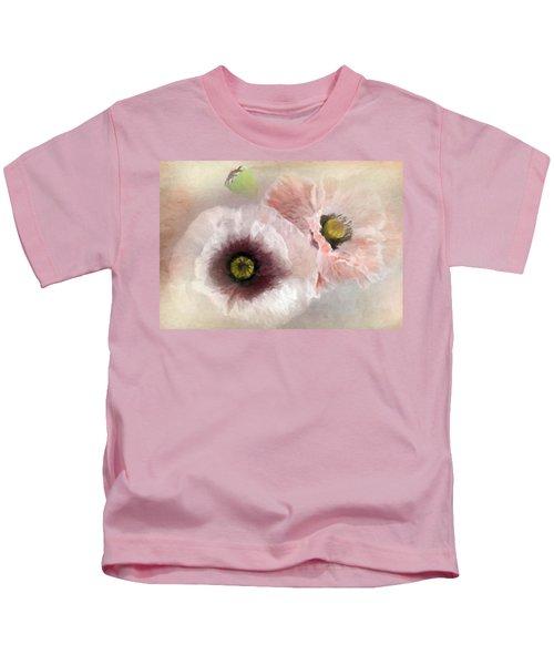 Delicate Pastel Poppies Kids T-Shirt