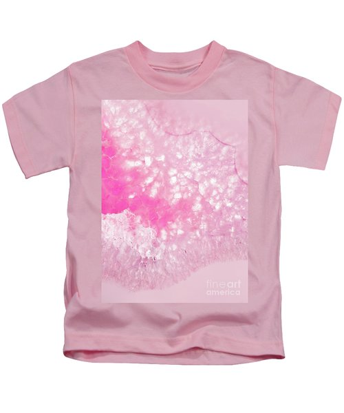 Delicate Pink Agate Kids T-Shirt