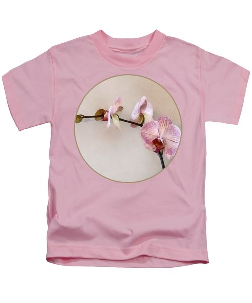 Delicate Pink Phalaenopsis Orchids Kids T-Shirt