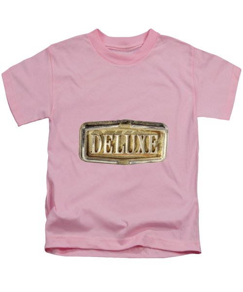 Deluxe Chrome Emblem Kids T-Shirt