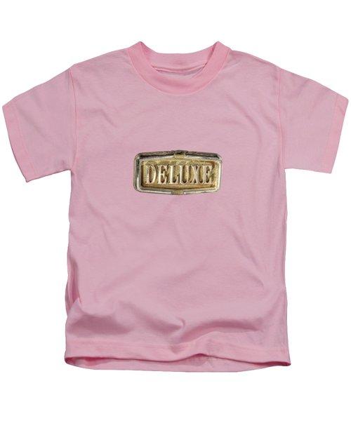 Deluxe Chrome Emblem Kids T-Shirt