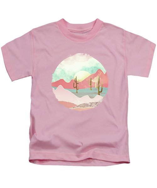Desert Mountains Kids T-Shirt by Spacefrog Designs