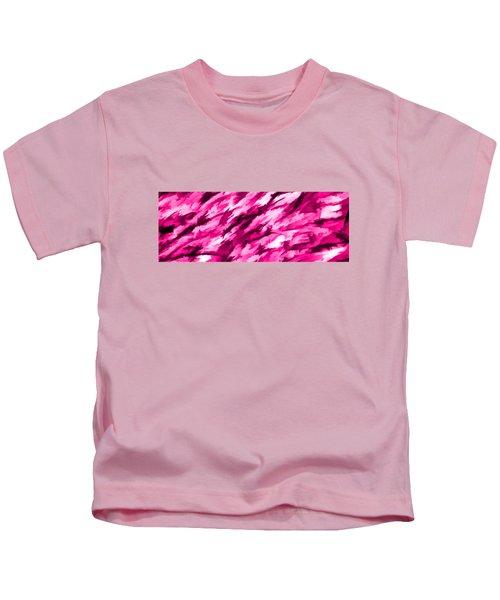 Designer Camo In Hot Pink Kids T-Shirt