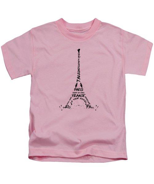 Digital-art Eiffel Tower Kids T-Shirt