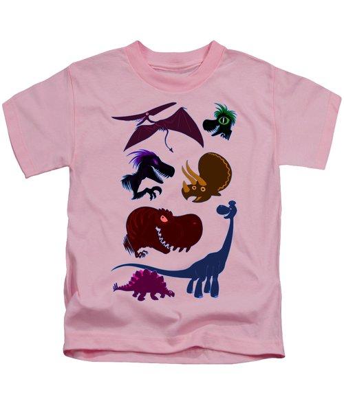 Dinosaur Graphic - T-rex Triceratops Brachiosaurus Pteranodon Velociraptor Stegosaurus Kids T-Shirt