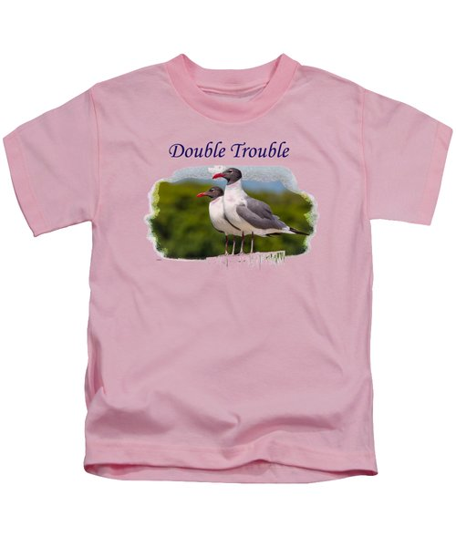 Double Trouble 2 Kids T-Shirt by John M Bailey