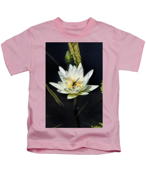 Dragon Fly On Lily Kids T-Shirt