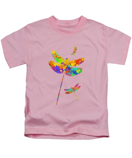 Dragonfly Watercolor Art Kids T-Shirt