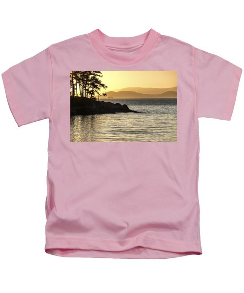 Dusk On Sucia Island Kids T-Shirt