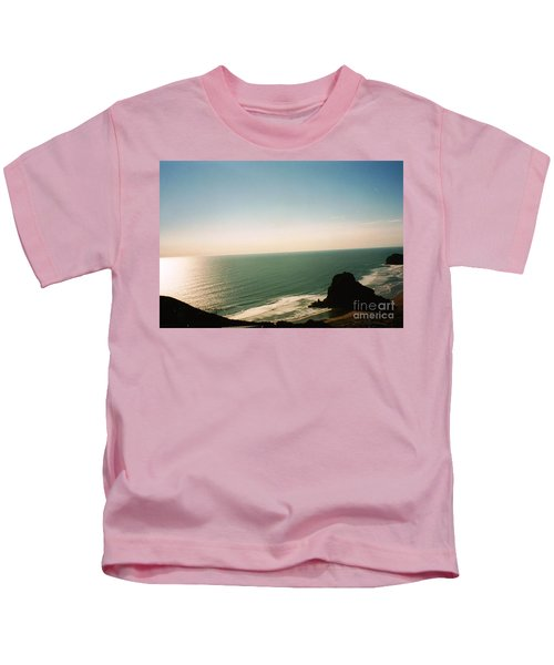 East Coastline In New Zealand Kids T-Shirt