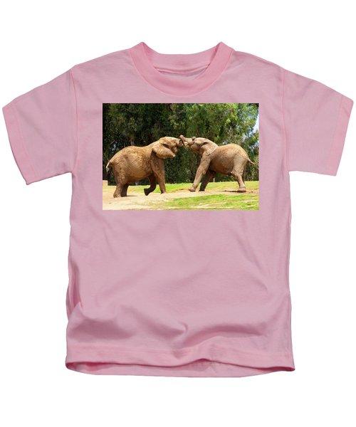 Elephants At Play 2 Kids T-Shirt