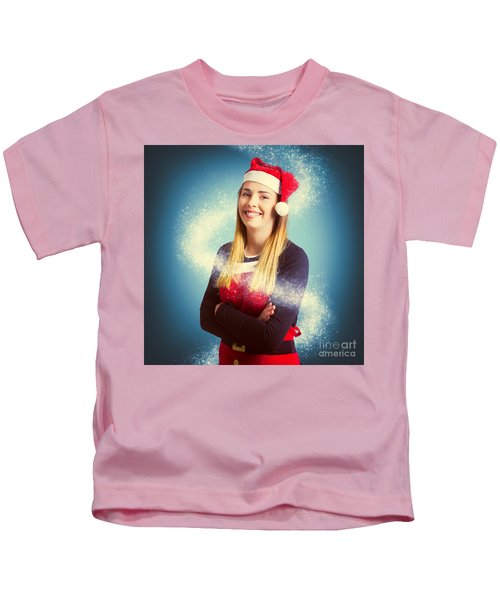 Elf Wrapped Up In The Magic Of Christmas Kids T-Shirt