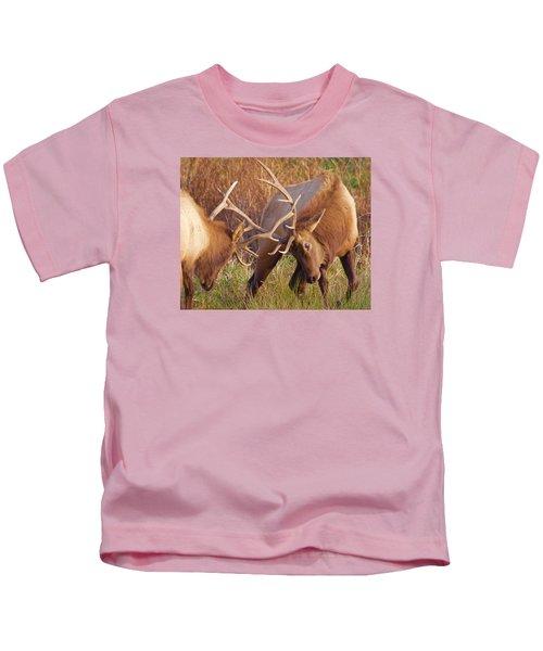 Elk Tussle Kids T-Shirt