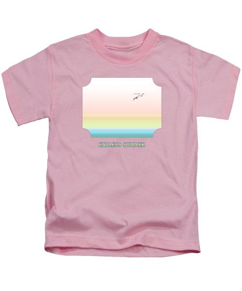 Endless Summer - Pink Kids T-Shirt by Gill Billington