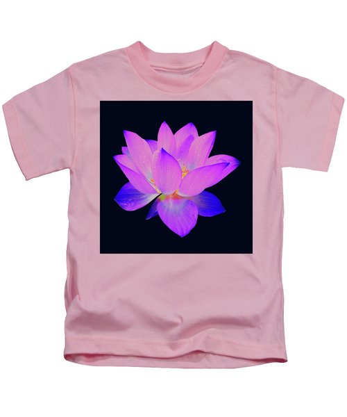 Evening Purple Lotus  Kids T-Shirt