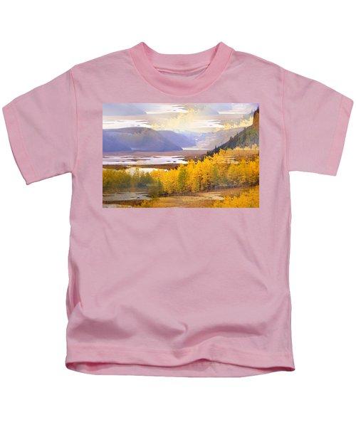 Fall In The Rockies Kids T-Shirt