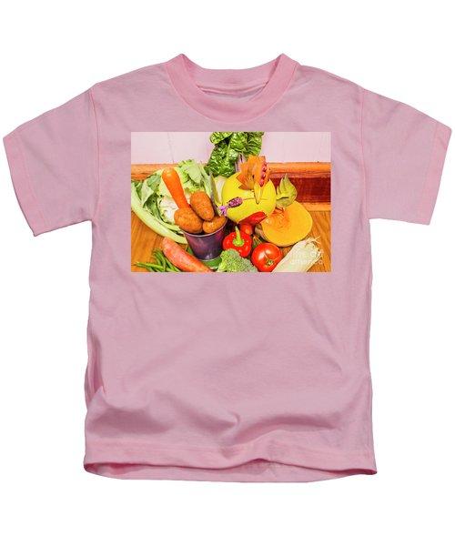 Farm Fresh Produce Kids T-Shirt by Jorgo Photography - Wall Art Gallery