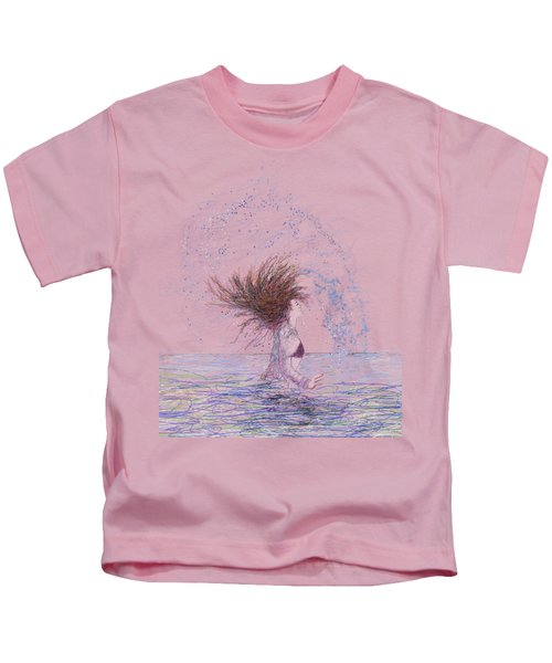 Feeling The Energy Of The Sea Sketch Kids T-Shirt