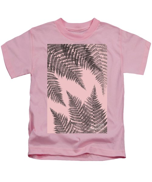 Ferns On Blush Kids T-Shirt