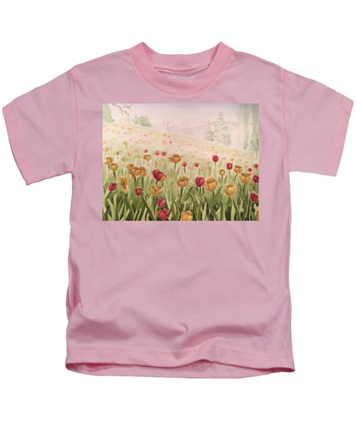 Field Of Tulips Kids T-Shirt