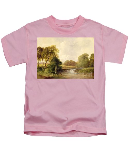 Fishing - Playing A Fish Kids T-Shirt