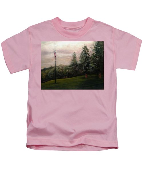 Flag Pole At Harborview Park Kids T-Shirt