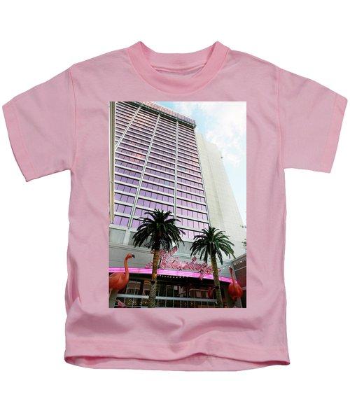 Flamingo Hotel Neon Sign Las Vegas Kids T-Shirt