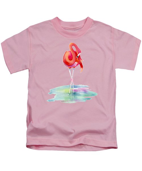 Flamingo Primp Kids T-Shirt