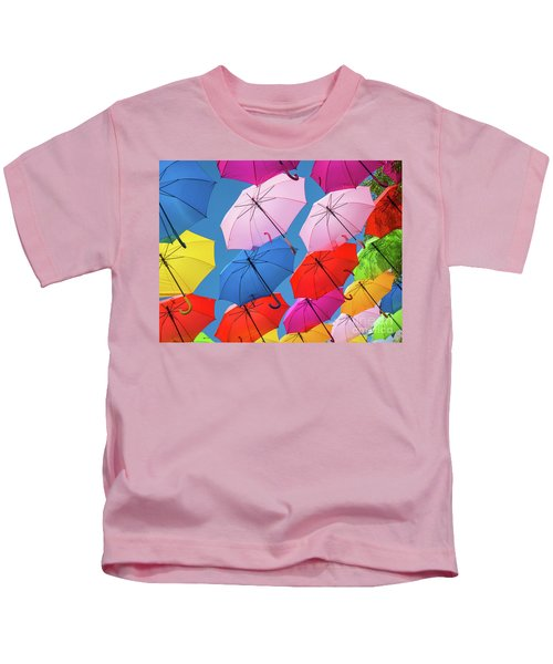 Floating Umbrellas Kids T-Shirt
