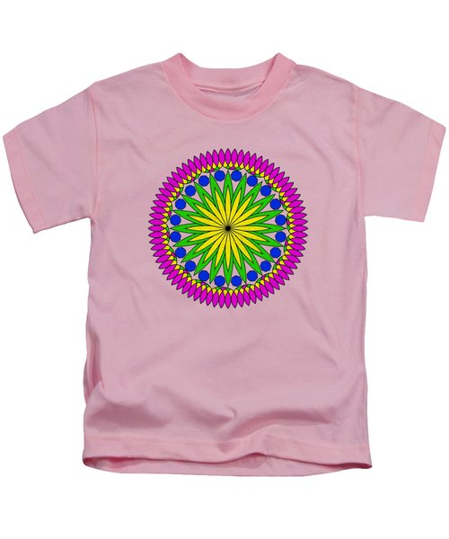 Flower Mandala By Kaye Menner Kids T-Shirt