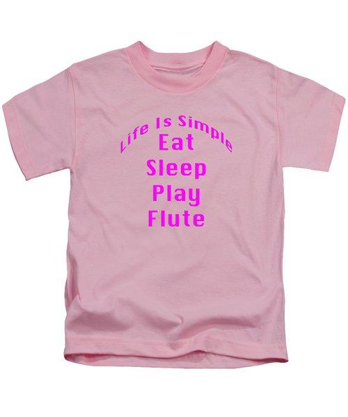 Flute Eat Sleep Play Flute 5510.02 Kids T-Shirt