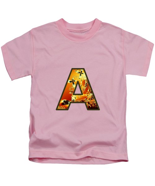 Fractal - Alphabet - A Is For Abstract Kids T-Shirt