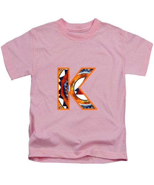 Fractal - Alphabet - K Is For Kaleidoscope Kids T-Shirt