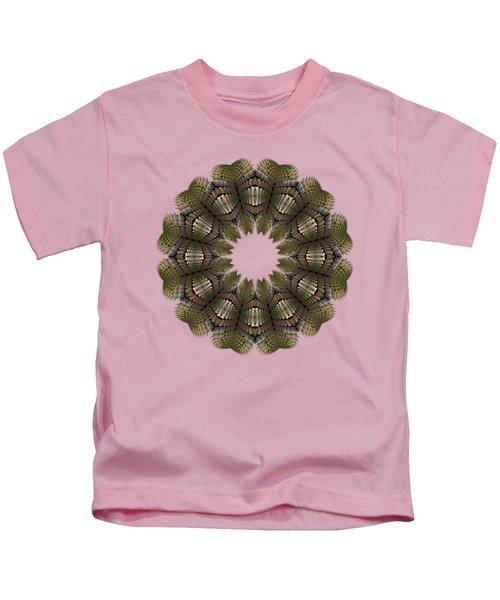 Fractal Wreath-32 Earth T-shirt Kids T-Shirt