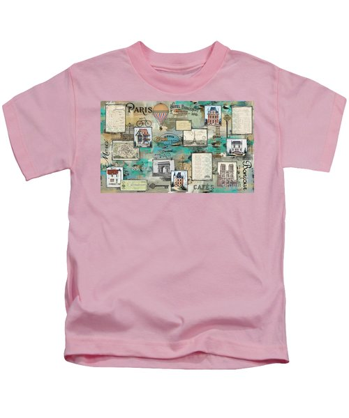 French Collage-a Kids T-Shirt