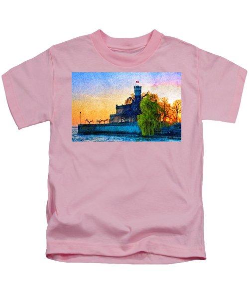 Friedrichshafen Castle At Sunset Kids T-Shirt