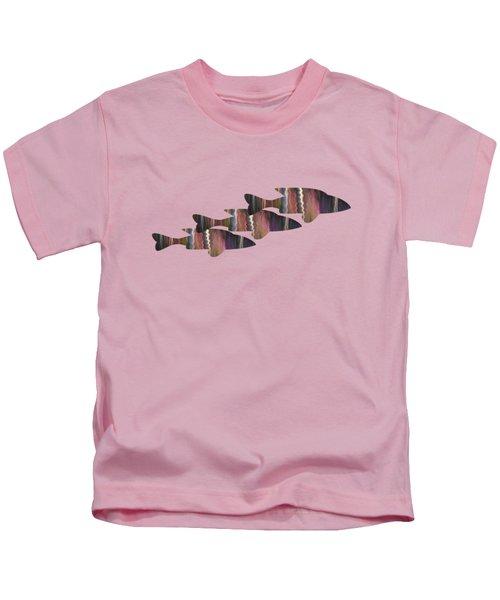 Fuchsia Trio Kids T-Shirt