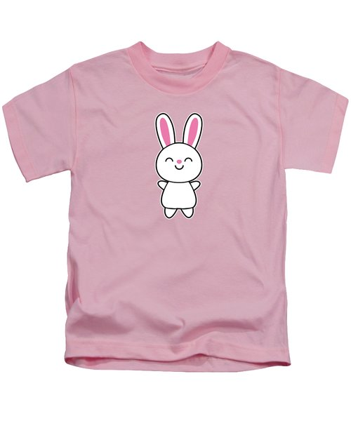 Funny Cute Rabbit Bunny In Pink Kids T-Shirt