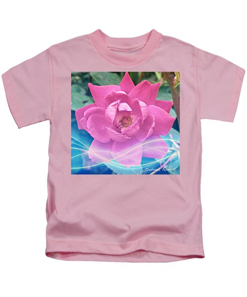 Fuschia Flower Energy Kids T-Shirt