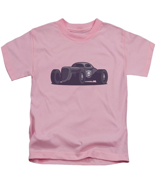 Gaz Gl1 Custom Vintage Hot Rod Classic Street Racer Car - Aqua Kids T-Shirt