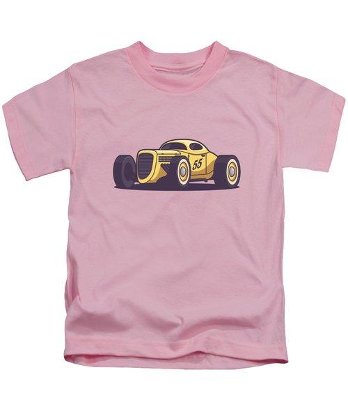 Gaz Gl1 Custom Vintage Hot Rod Classic Street Racer Car - Yellow Kids T-Shirt