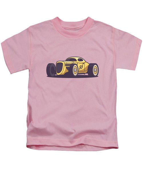 Gaz Gl1 Custom Vintage Hot Rod Classic Street Racer Car - Yellow Kids T-Shirt