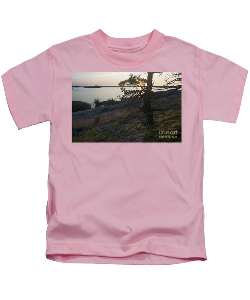 Georgian Bay Sunrise-moss 4253 Kids T-Shirt
