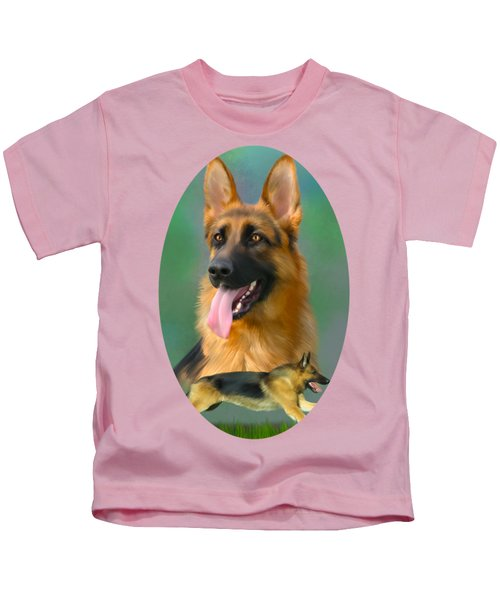 German Shepherd Breed Art Kids T-Shirt