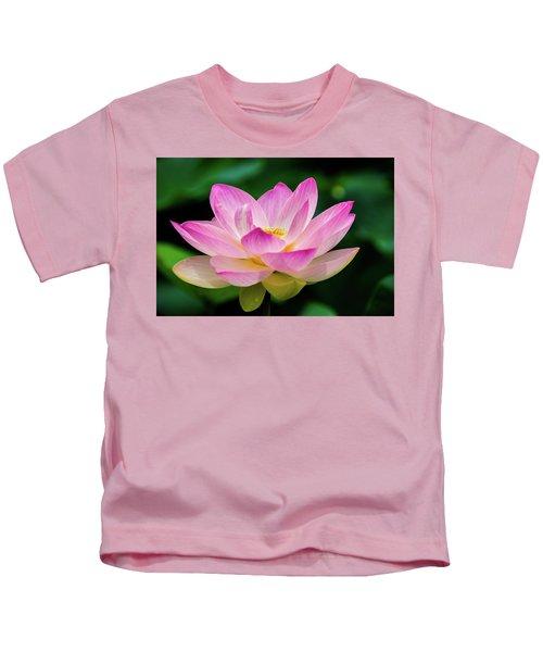Gigantic Lotus Red Lily Kids T-Shirt